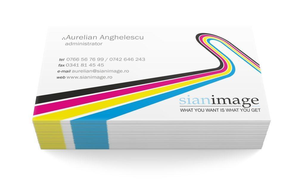 Carti de vizita Sian Image Media printare speciala plastic uv folio